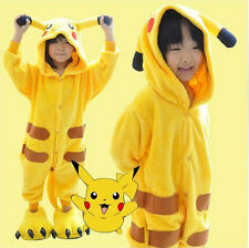 Children's Christmas Kigurumi Cosplay Costume Animal Onesie Sleepwear Pikachu
