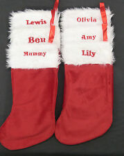 Personalised Girls Boys Name Quality Christmas Stocking Special Offer