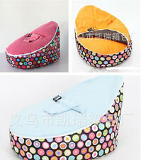 UNFILLED Colorful Circles 2 Layer Baby Bean Bag Chair/Bed Todler Portable Seat