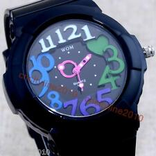New Creative Colors Art Digital Womens Child Jelly Quartz Wrist Watch Waterproof
