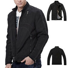 Fashion Winter Warm  Qulited Overcoat Mens Slim Jacket Winter Coats Motorcycle