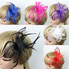 Women's Hat Style Cap With Feather Bowknot Fascinator Party Decor Hair Clip