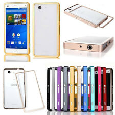 For Sony Xperia Z3 Compact Aluminum Metal Push-Pull Bumper Frame Hard Case Cover