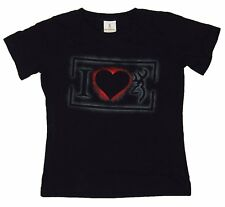 Womens NWT I Heart Browning Buckmark Love Classic Fit T-Shirt Black Any Size