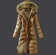 New 2014 Down Jackets Womans Long Over The Knee Length Ladies Winter Clothing