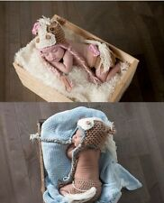 New Cute Horse Pony Hat Diaper Cover Brown For Baby Crochet Knited Photo Prop