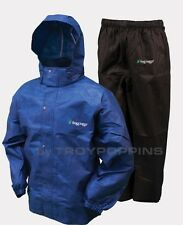 FROGG TOGGS RAIN GEAR-AS1310-112 ALL SPORTS BLUE/BLACK SUIT GOLF FISHING WET