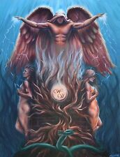 Angels Love Unity Temptation Artwork Oil Painting Signed Stretched Canvas Print