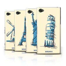 STUFF4 Back Case/Cover/Skin for Sony Xperia Z1 Compact/Landmarks