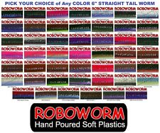 Roboworm Straight Tail 6 Inch Drop Shot Worms SR 10 Pack Pick from 48 Colors