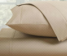 Fine Deluxe Hotel 300 Thread Count 100% Cotton Checkered Sheet Set - Four Sizes