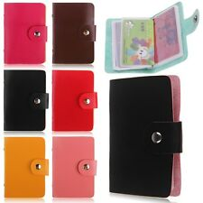 24 Slots Business Credit ID Card Holder Case PU Leather Pocket Bag Pouch Wallet