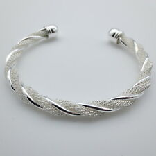 Bangle Bracelet w/Twisted Wire ~ Sterling Silver (Gift Options Available)