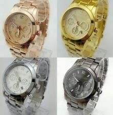 New style 2013 Newest Shiny Stainless Steel  WOMENS/MENS Wrist Watch 4 Color
