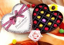 18x Heart Sweet Condoms Chocolate Style Gift Adult Sensitive Orgasm Man Using