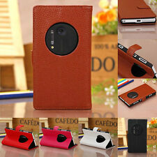 For Nokia Lumia 1020 Case Card Holder New Magnetic PU Leather Wallet Stand Cover