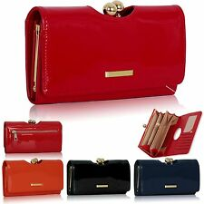 Black Red Orange Navy Ladies Wallet Patent Designer Women Girl Purse Clutch Bags