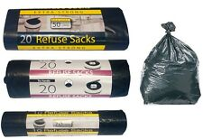 HEAVY DUTY EXTRA STRONG BLACK REFUSE SACKS BAGS 10 20 40 BIN LINERS BAG RUBBISH