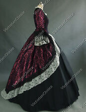 Marie Antoinette Victorian Brocade Period Dress Reenact Gown Theatre Quality 164