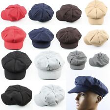 Mens Womens 8 Panel Herringbone Newsboy Cap wool Baker Paperboy Cabbie Ivy Hat
