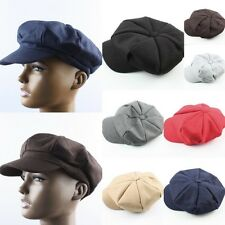 Mens Womens 8 Panel Herringbone Newsboy Bakerboy Cabbie Applejack Ivy Cap Hat 1X