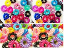10pcs Colorful Elastic telephone line hair ring Hair Tie Rope Ponytail Holder