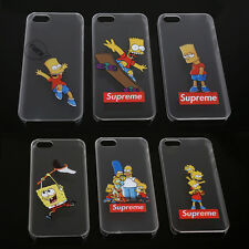 2014 Cute Cartoon Characters Transparent Case Cover For Apple iPhone 4 4S 5 5S 6