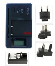 Battery Charger For SAMSUNG Galaxy 580, i8320 H1 360, i8910 Omnia HD, S8500 Wave