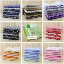 Series 7 pieces Assorted Pre-Cut Fat Quarters Bundle Charm Cotton Quilt Fabric