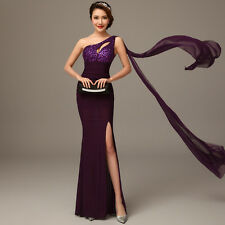 Purple One Shoulder Sexy Formal Evening Prom Party Cocktail Dress Sequins QK82H