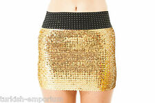 Sparkling Mini Skirt Stretch Fit All Over Sequined Club Clubwear Bright Flashy