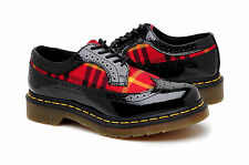 Dr Martens Womens Shoes Marnie R13504001 Black Patent Lamper Red
