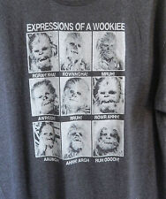 Mens STAR WARS Expressions of a WOOKIEE Gray XL XXL or XXXL T-shirt - NWT Wookee