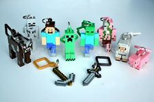 Jazwares Game Minecraft Keychain Keyring Toys Kids Video Game Keychain FKG