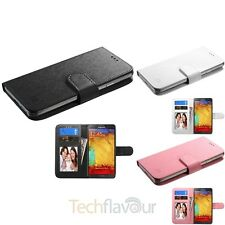 Color Universal Leather Flip Wallet ID Card Slot Case Cover for Mobile Phone