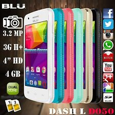 New BLU Dash Jr D141S Social  Android Dua GSM Sim Unlocked 2G SmartPhone Colors