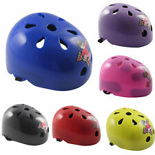 6 Colors Youth Kids Skateboard Roller Blade Bicycle Safety Helmet Human Pattern