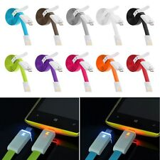 LED Light Micro USB Data Sync Charging Cable for Samsung S4 HTC LG Phones Tablet