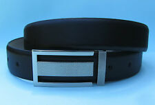 Mens Dress Black Real Leather Belt with Automatic Buckle