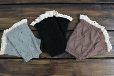 Women's Crochet Knitted Lace Trim Boot Cuffs Toppers Leg Warmers Socks