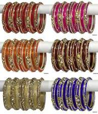 Set of 26 Indian Ethnic Bangles Bollywood Churi Kangan Stones Bracelets