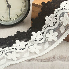"2.3""*1yard delicate embroidered tulle lace trim for clothes crafts DIY 2 colors"