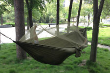High Strength Parachute Fabric Hammock Hanging Bed With Mosquito Net Hot