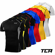Men's Boys TCA HyperFusion Compression Armour Base Layer Short Sleeve Under Top