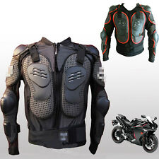 Mens Unisex Racing Motorcycle Body Armor Spine Chest Protective Jacket Gear Coat