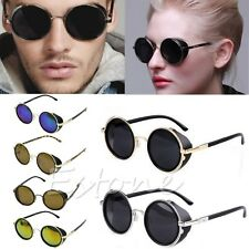 Steampunk Sunglasses 50s Round Glasses Cyber Goggles Vintage Retro Style Blinder