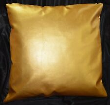 pe253a Gold Soft Faux Leather Sheep Skin Cushion Cover/Pillow Case*Custom Size