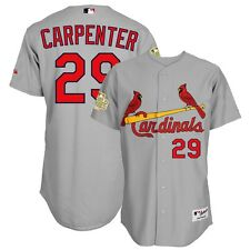 Chris Carpenter St Louis Cardinals Authentic 2011 World Series Grey Road Jersey