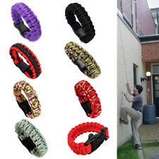 New Useful Self-Rescue Parachute Cord Bracelets Whistle Buckle Survival Camping