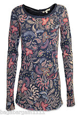 NEW FAT FACE LADIES BLUE RED GOLD GREEN PAISLEY TUNIC CASUAL TOP SIZE 8 - 18